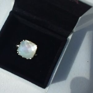 Authentic Pandora mother of pearl ring